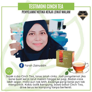 Testimoni Cinch® Tea Mix shaklee kerja syif malam