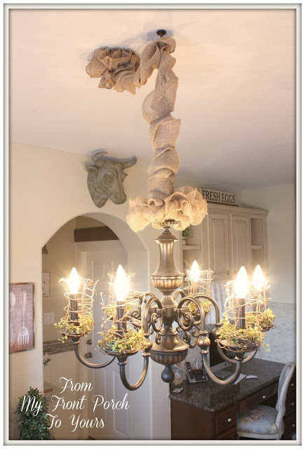Farmhouse Chandelier-From My Front Porch To Yours