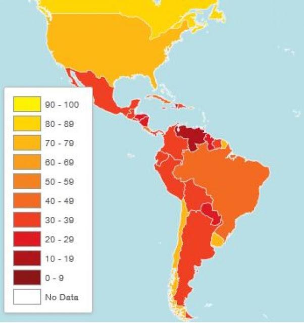 Indice de corrupción de Ecuador