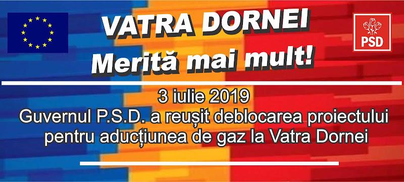Guvernul PSD a reușit deblocarea proiectului de aducțiune a gazului metan la Vatra Dornei