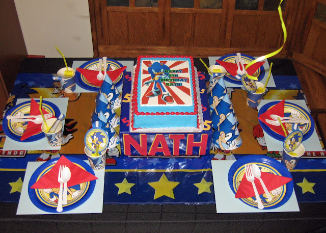 This is a Sonic the Hedgehog themed 5th birthday party for my son.