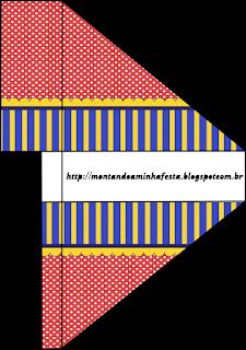Para servilleteros de Azul, Rojo y Amarillo para imprimir gratis.