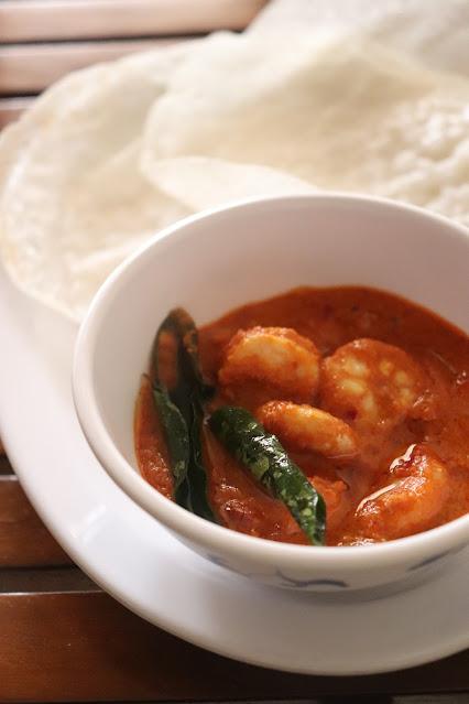 Neer dose shrimp ghee roast