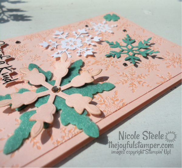 snowflake wishes, felt, snowflake splendor, winter cards, stampin' up!, handmade cards, learn to stamp, how to stamp, embossing folder technqiues, nicole steele, the joyful stamper, independent stampin' up! demonstrator, pittsburgh pa
