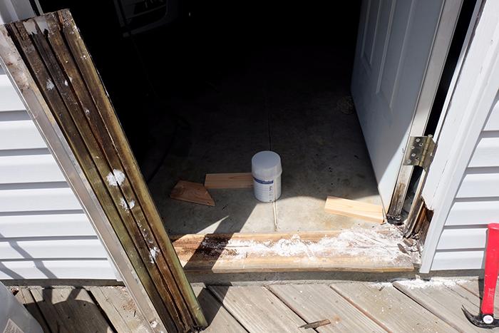 door sill removal