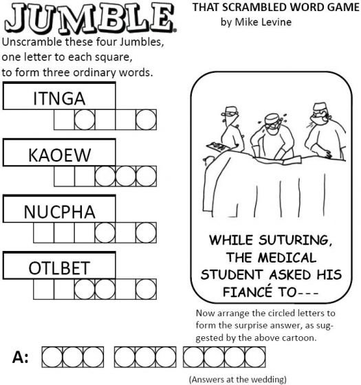 Rare image with jumble puzzles printable