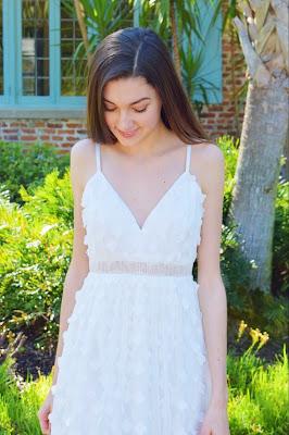 kate bartlett, white prom dress