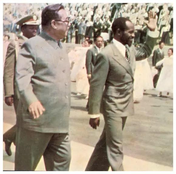 Kim Il Sung and Moisés Machel, Pyongyang, May 14, 1978