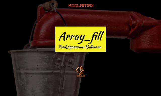 Array_fill Fonksiyonunun Kullanımı