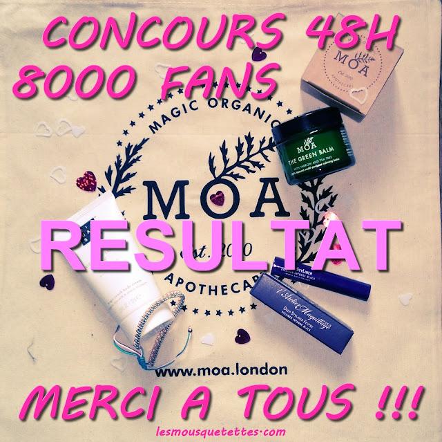 Résultat concours 8000 fans ! Blog beauté Les Mousquetettes