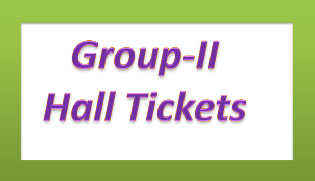 Group-II Service - Hall Tickets Download (www.naabadi.org)