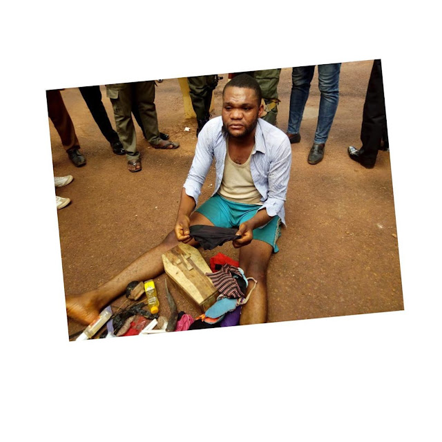 See Wonder: Coffin, Women underwears recovered from rapist pastor's house.