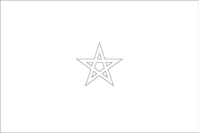 drapeau maroc coloriage