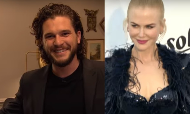 Kit Harrington and Nicole Kidman in Late Late Show with James Corden