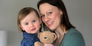 Image: 40 something mum Alison Darlow with her daughter 18 month old Beth