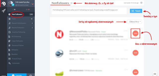 Crowdfire - darmowa aplikacja porządkująca Twitter