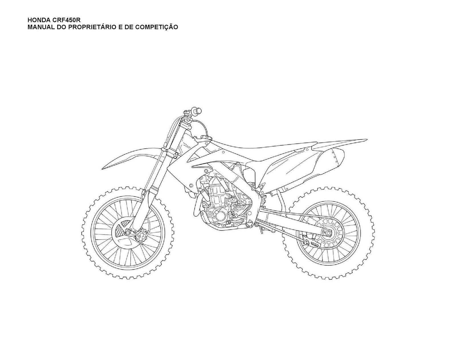 MANUAL DA SUA MOTO: MANUAL DO PROPRIETÁRIO HONDA CRF 450R 2011