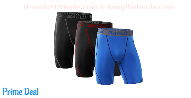 Bafly Men's Compression Shorts Cool Dry Athletic Tights 40% off