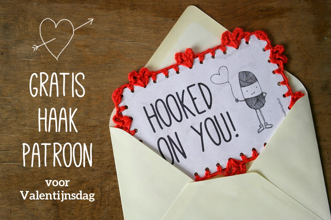 Free pattern card for Valentines day