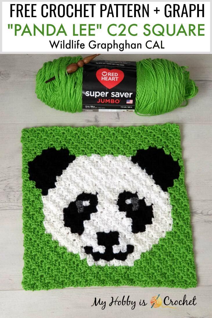 My Hobby Is Crochet Free Crochet Pattern Panda Lee C2c Square