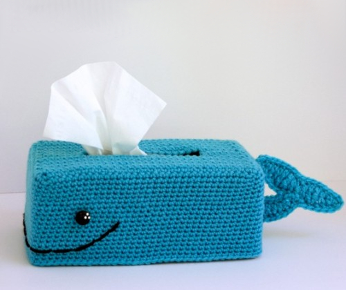 Get Whale Soon Tissue Box Cover - Free Pattern