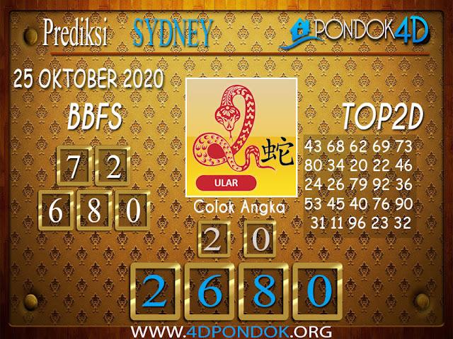 Prediksi Togel SYDNEY PONDOK4D 25 OKTOBER 2020