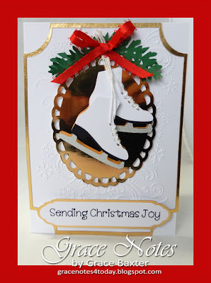 ice skates Christmas card - created by Grace Baxter