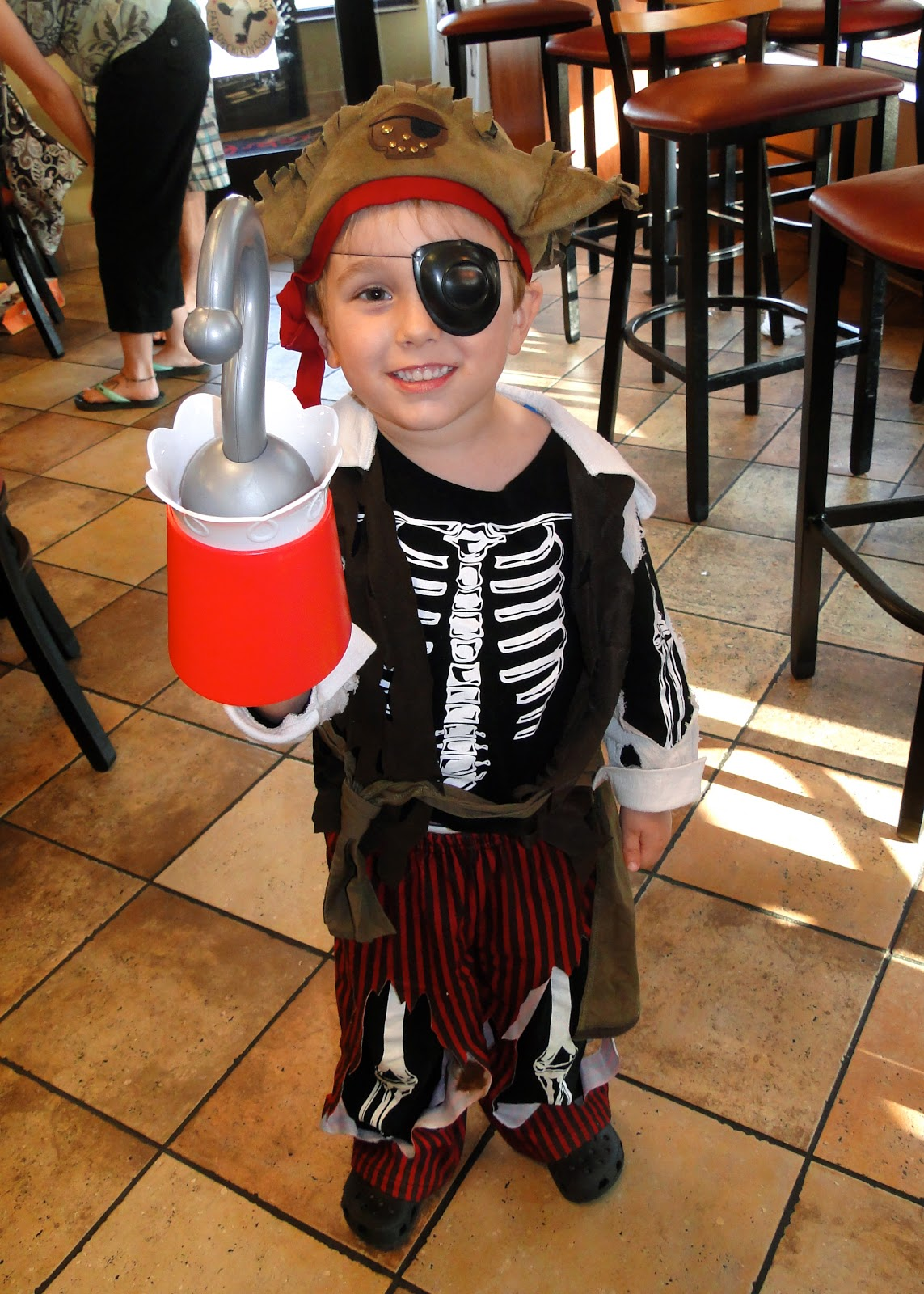 I found Kye a really cool pirate costume at a kidu0027s sale for only $6 and he looked AWESOME! He also brought along his Captain Hook hook too of course ?  sc 1 st  The Journey of Parenthood... & CFA Pirate and Princess Night! - The Journey of Parenthood...