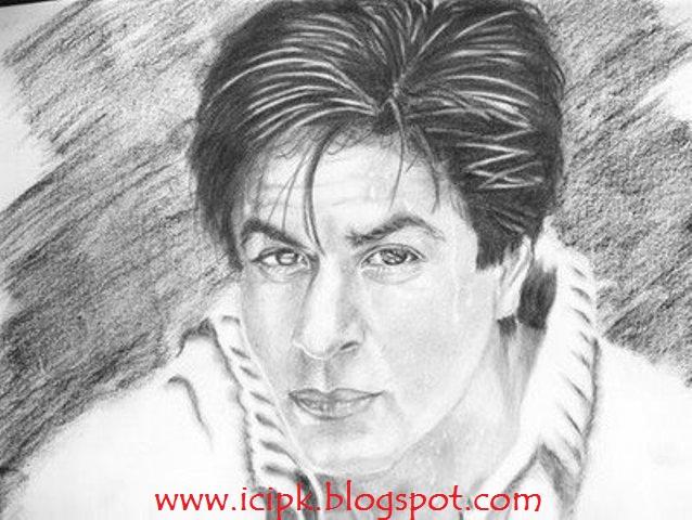 pencil sketches images kh khan shahrukh khan
