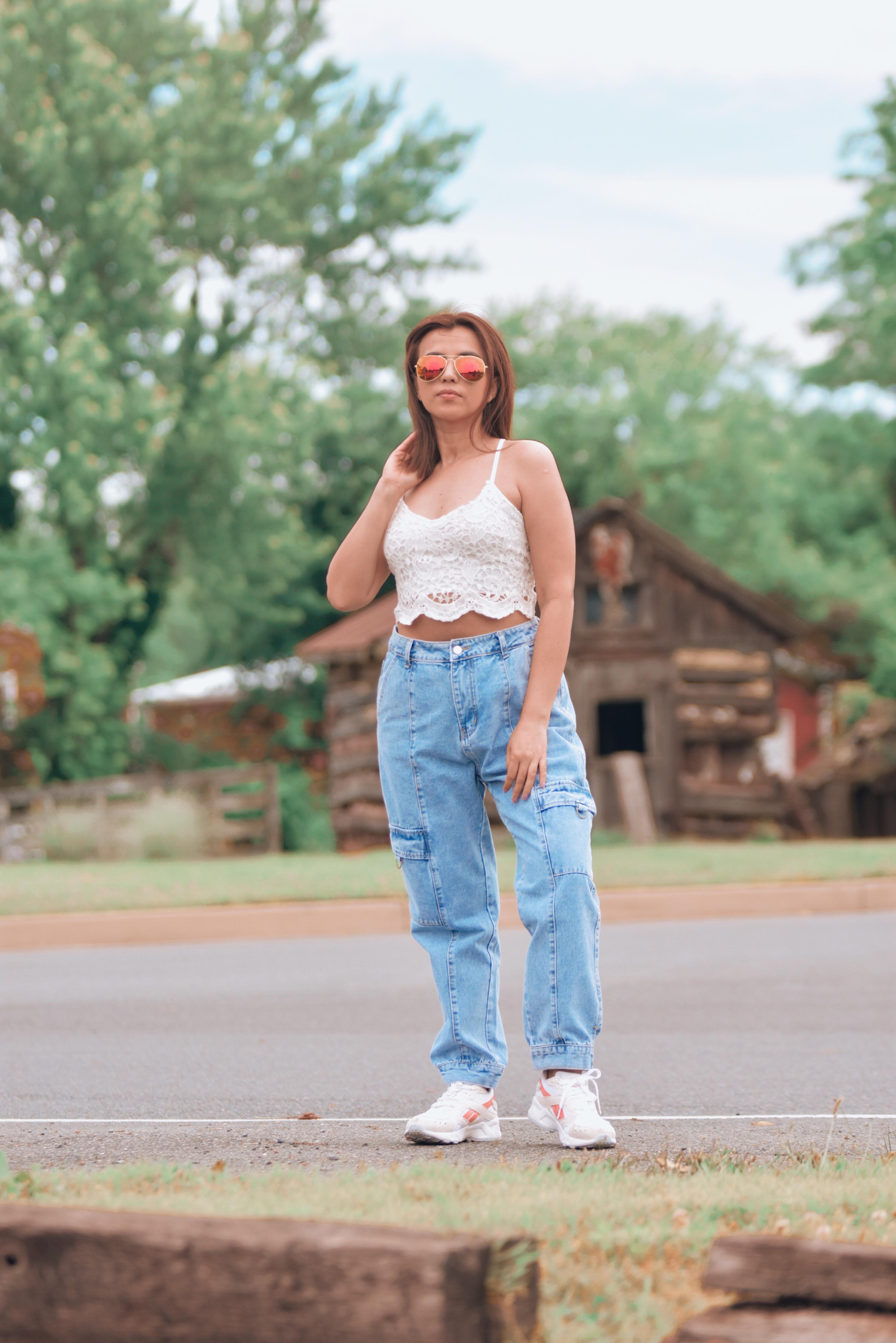 Como Combinar Unos Cargo Jeans-mariestilo-como crear outfits desde cero-cargo pants-como combinar jeans-como combinar pantalones de mezclilla-