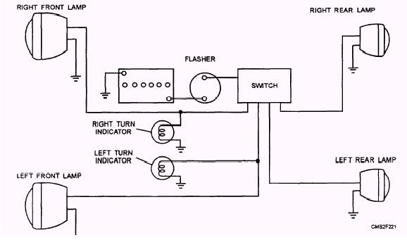 basic motorcycle turn signal wiring diagram simple motorcycle turn signal wiring diagram