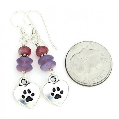 dog rescue earrings jewelry gift for women