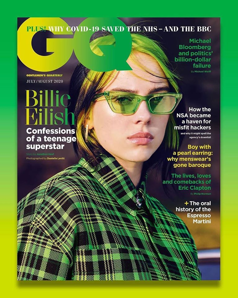 Billie Eilish for GQ UK July/August 2020