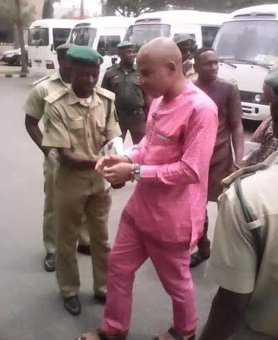 Photos Of Nnamdi Kanu In Court Today