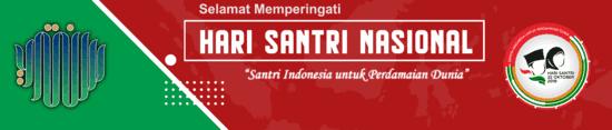 1. Desain Spanduk Hari Santri 2019 PSD ( Photoshop)