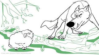 વરુ અને ઘેંટાનું બચ્ચું