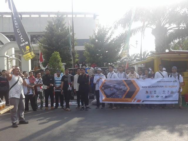 AMSA Kuningan Gelar Aksi Selamatkan Al-Aqsha