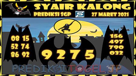 Prediksi Kalong SGP Sabtu 27-Mar-2021