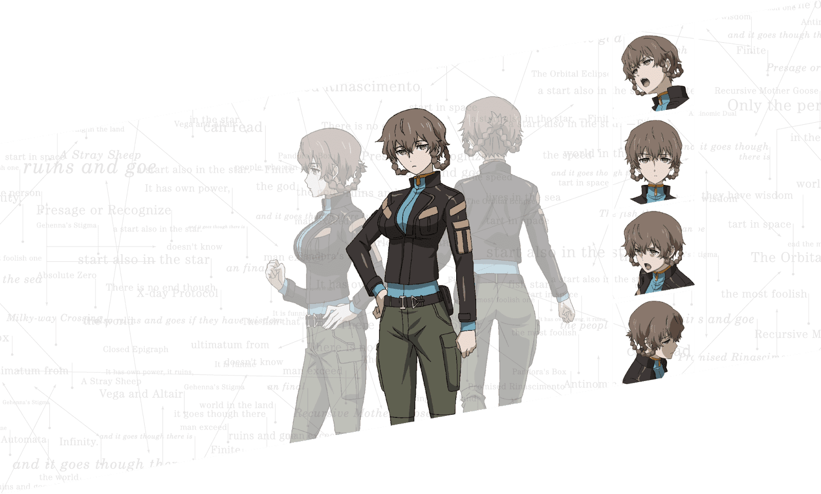 Novo visual e character designs de Steins Gate 0