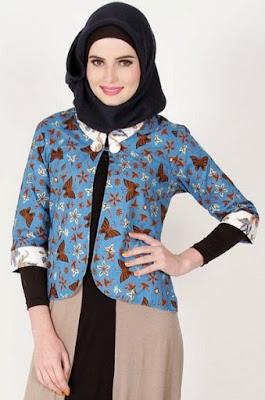 Model blazer batik orang gemuk