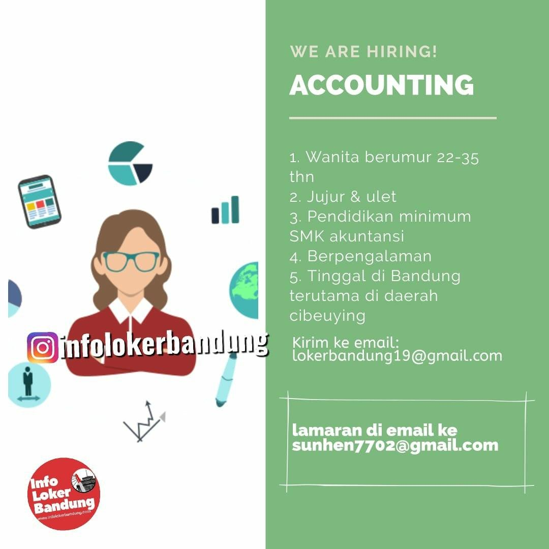 Lowongan Kerja Accounting di Perusahaan Dagang Bandung Januari 2020