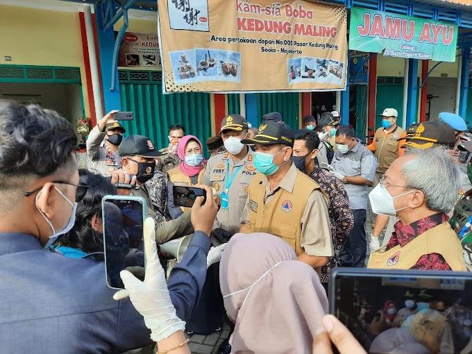 Protokol Kesehatan Terus Digiatkan Di Lingkungan Pasar Raya Kedungmaling Kabupaten Mojokerto