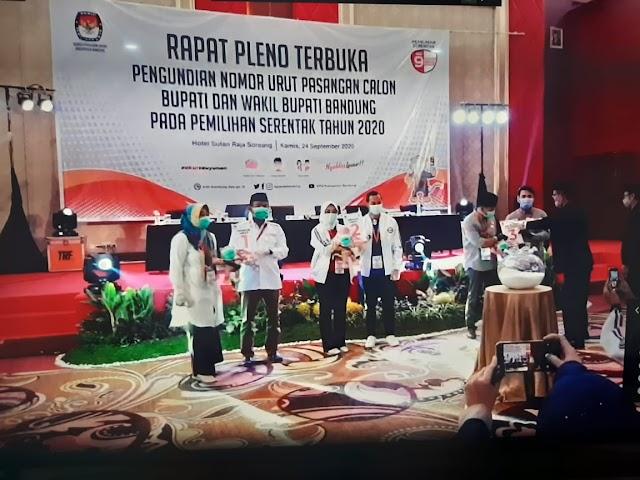 KPU Tetapkan Nomor Urut Paslon Pilkada 2020 Kabupaten Bandung, Ini Urutannya