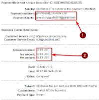 Clixsense ka payment proof
