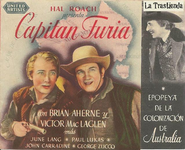 Programa de Cine - Capitán Furia -  Brian Aherne - Victor MacLaglen