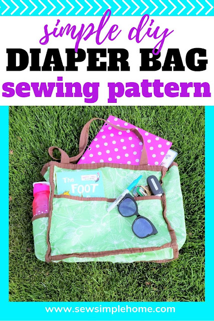 Learn how to make a diaper bag with this simple step by step tutorial.