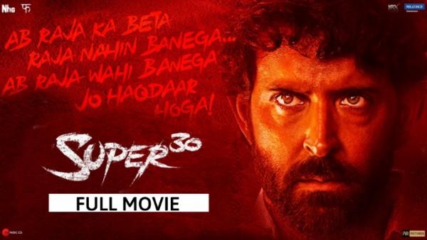 Super 30 Full Movie Download leaked by Tamil Rockers - Hrithik Roshan