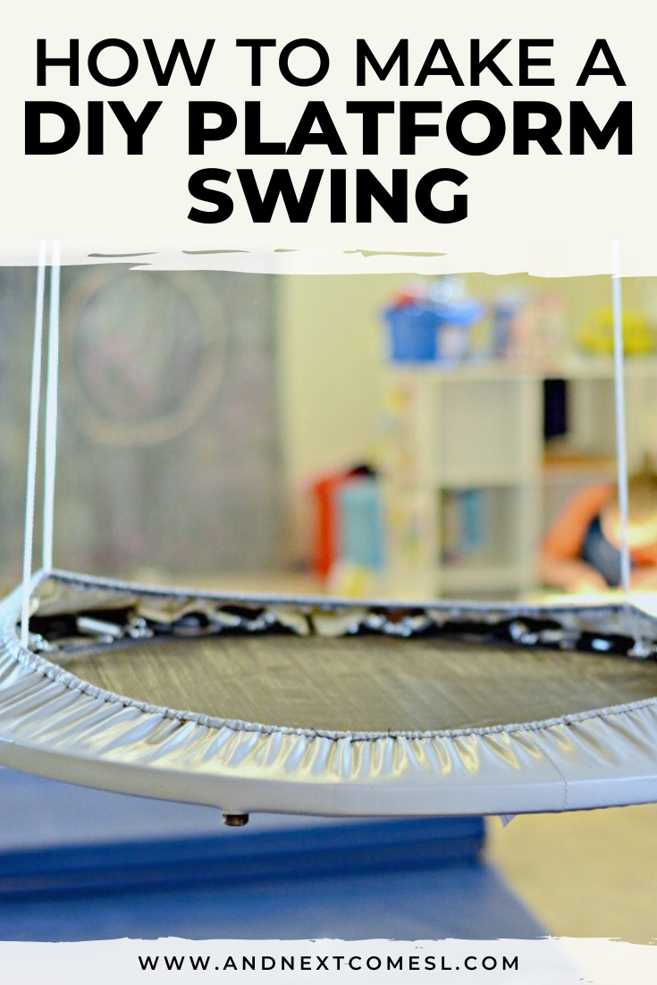 How to make a DIY platform swing for kids