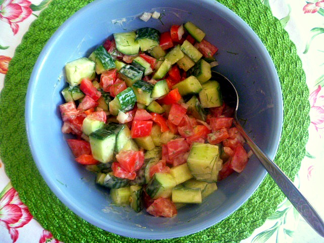 Dill Garden Salad:  this side dish salad will be on your menu all summer long! - Slice of Southern