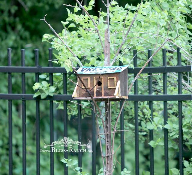 Metal Junk Sculpture Bird House, Bliss-Ranch.com